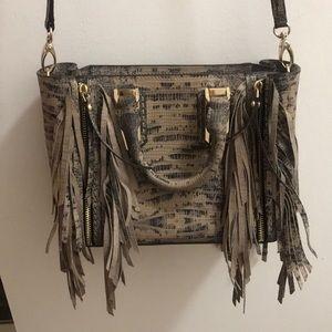 Henri Bendel Snakeskin Crossbody Bag